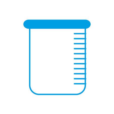 poison bottle: chemical beaker icon over white background vector illustration Illustration