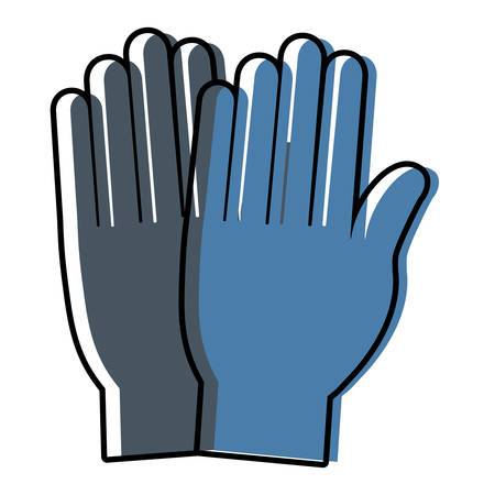 medical gloves icon over white background vector illustration