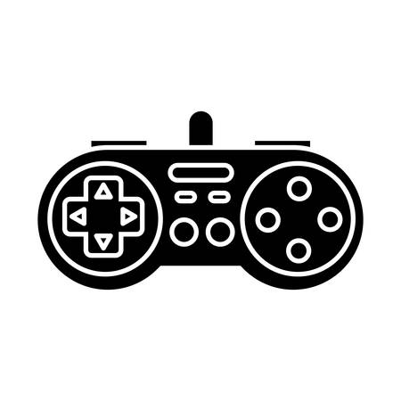 obsession: videograme controller icon over white background vector illustration