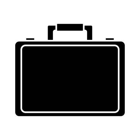 business briefcase icon over white background vector illustration