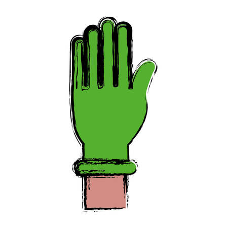 hand with medical glove icon over white background vector illustration