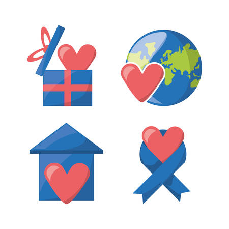 charity collection: donation support symbol to charity of the people