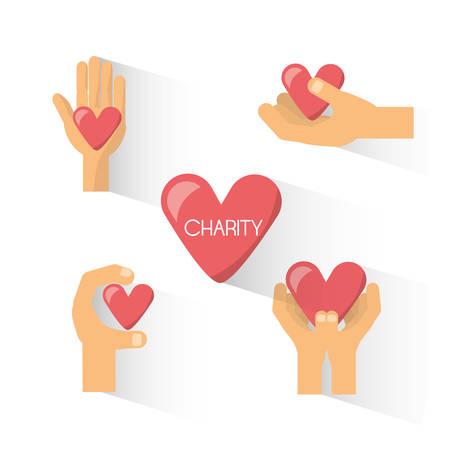 symbole de don de donation à la charité des gens illustration vectorielle