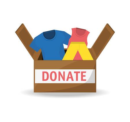 kleding donatie ondersteuning aan liefdadigheid van de mensen vector illustratie Stock Illustratie