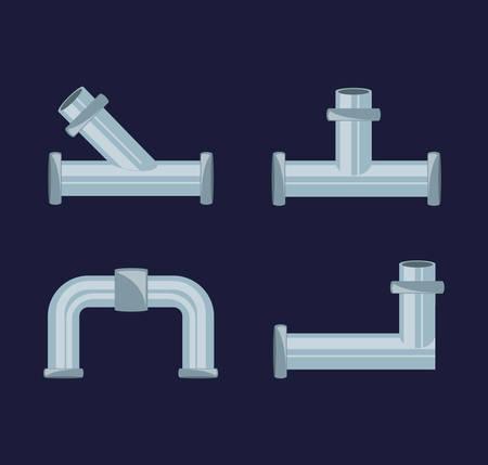 apartamento conjunto icono herramientas plomería ilustración vectorial