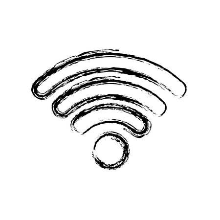 wifi signal icon over white background vector illustration Illustration