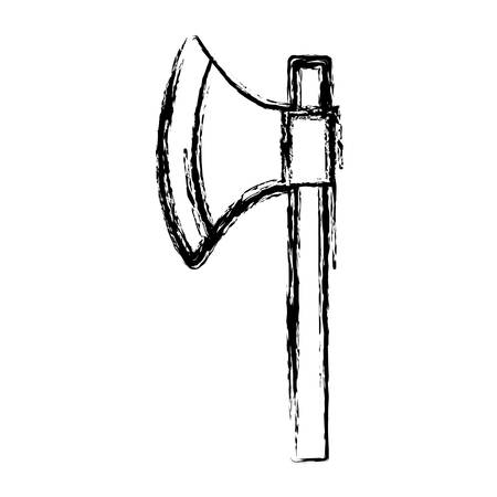 longsword: medieval ax icon over white background vector illustration