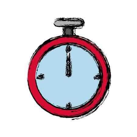 Chronometer icon over white background vector illustration