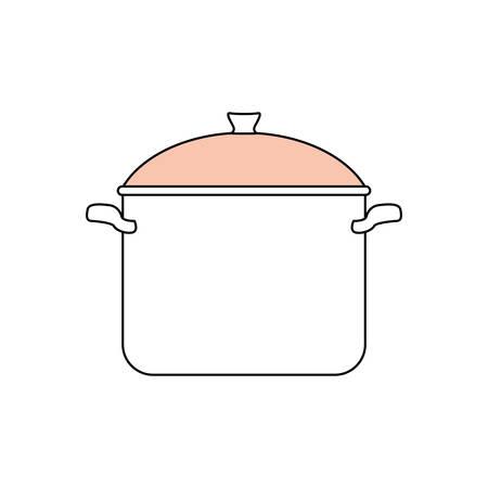Saucepan kitchenware isolated icon vector illustration graphic design