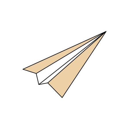 Paper plane isolated icon vector illustration graphic design