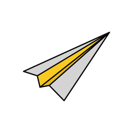 Paper plane isolated icon vector illustration graphic design