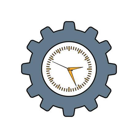 Clock in gear symbol icon vector illustration graphic design
