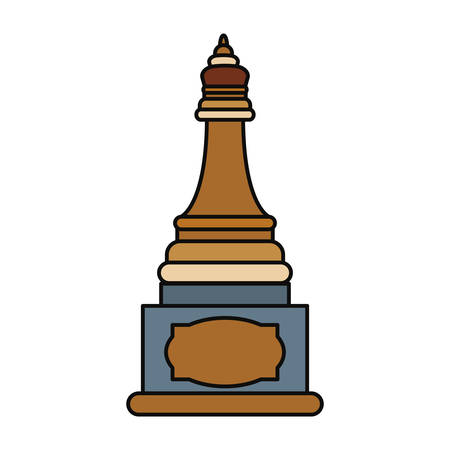 Chess game piece icon vector illustration graphic design