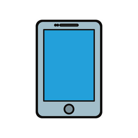 touch screen phone: A Smartphone mobile technology icon vector illustration graphic design illustration.