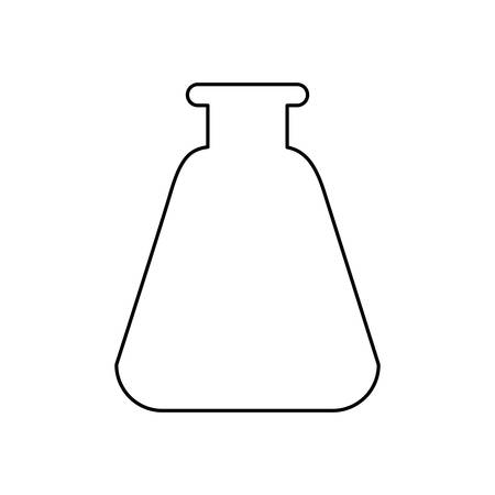 Flask chemistry glass icon vector illustration graphic design