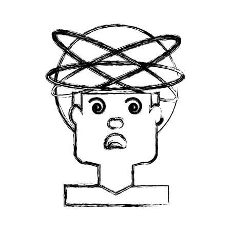 Crazy man cartoon icon vector illustration graphic design