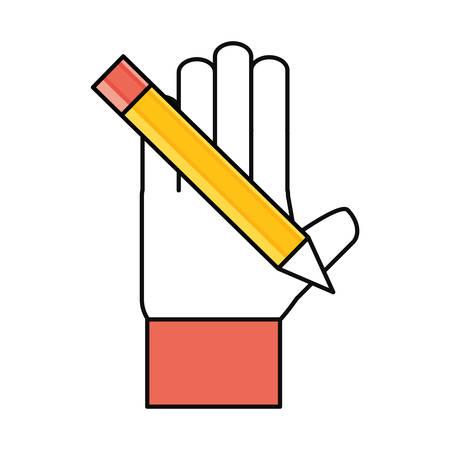 grafit: Drewniana ołówek ikonę symbolu ilustracji wektorowych projektowania graficznego