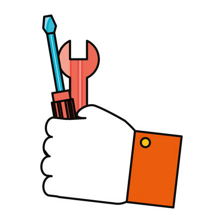 Hand with tool icon vector illustration graphic design