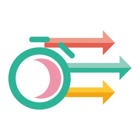 flèche pointeur symbole icône illustration vectorielle conception graphique Vecteurs