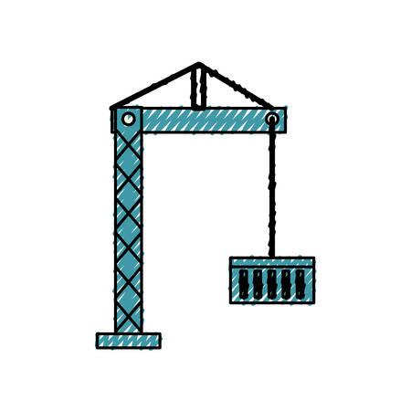 Container crane isolated icon vector illustration graphic design