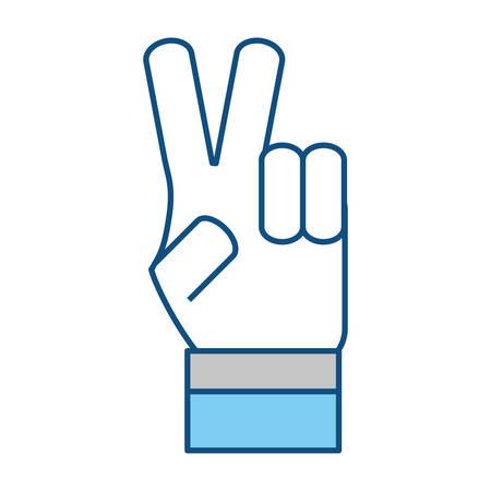 pacifist: Hand peace symbol icon vector illustration graphic design Illustration