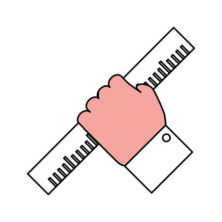 millimeters: Ruler tool isolated icon vector illustration graphic design