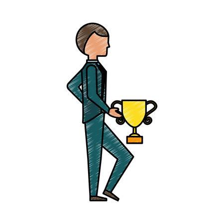 colourful tie: Executive businessman cartoon icon vector illustration graphic design Illustration