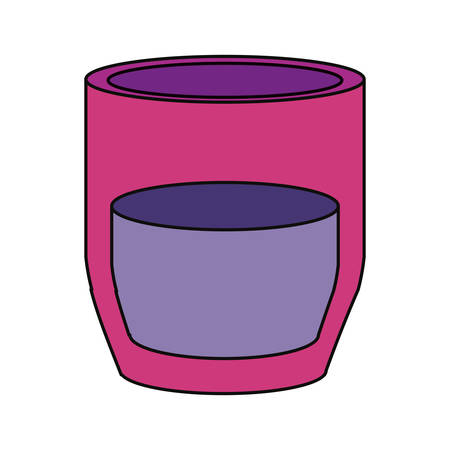 glass reflection: Glass of water icon vector illustration graphic design