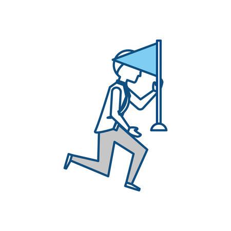 Executive businessman cartoon icon vector illustration graphic design Illustration