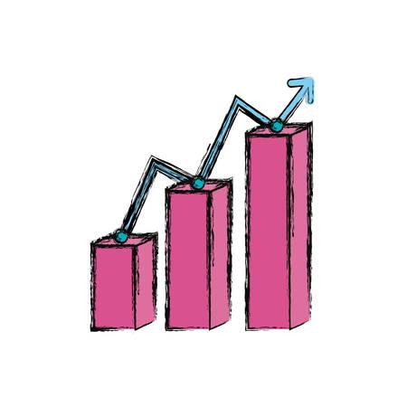 Graphic stats report icon vector illustration graphic design