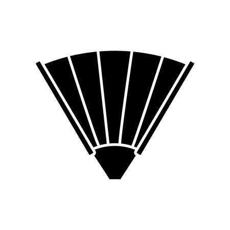hand fan icon over white background vector illustration Illustration