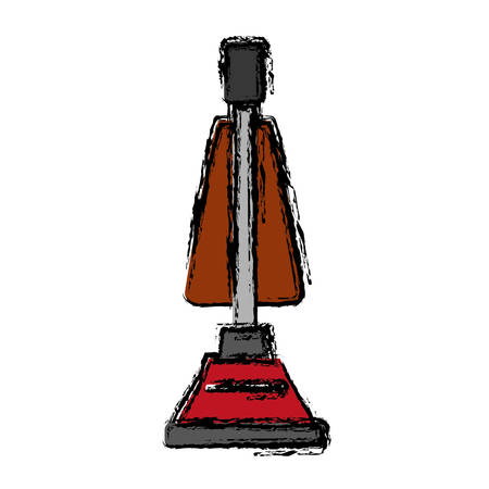 Vacuum cleaner icon over white background vector illustration