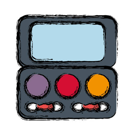 eye shadows palette icon over white background colorful design vector illustration