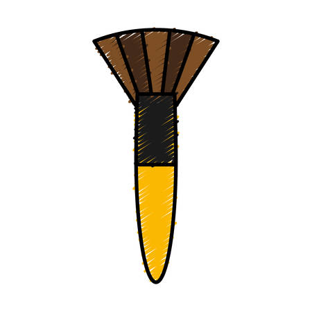 cosmetic brush icon over white background vector illustration