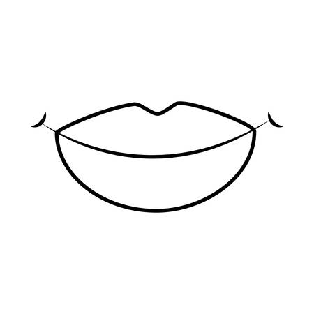 womans lips icon over white background vector illustration