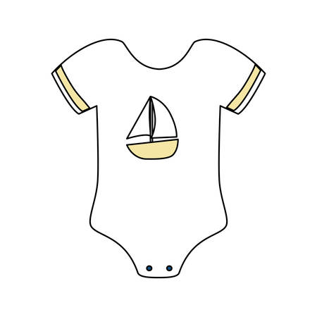 Cute baby suit wear icon vector illustration graphic design