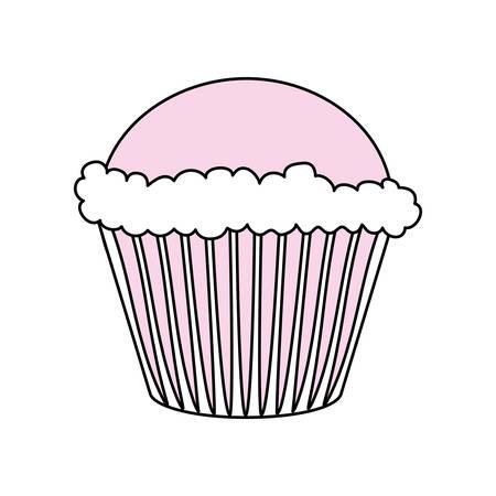 Sweet cupcake dessert icon vector illustration graphic design
