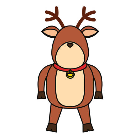 Christmas reindeer cartoon icon vector illustration graphic design