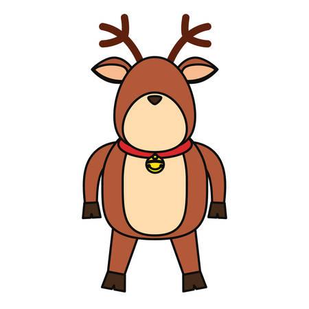 Christmas reindeer cartoon icon vector illustration graphic design