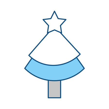 christmas tree illustration: Christmas tree pine icon vector illustration graphic design Illustration