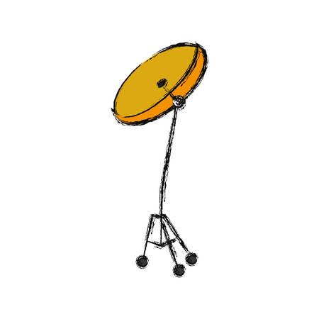 Drum plate music instrument icon vector illustration graphic design