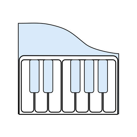 Piano keyboard music technology icon vector illustration graphic design