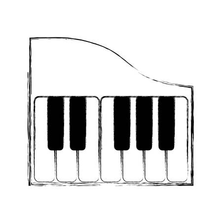Piano Keyboard Music Technology Icon Vector Illustration Graphic Design Stock