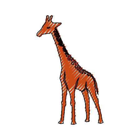Giraffe cartoon animal icon vector illustration graphic design