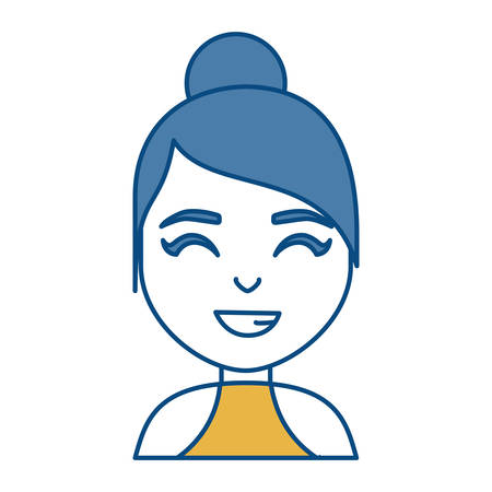 avatar Woman smiling icon over white background colorful design vector illustration Illustration