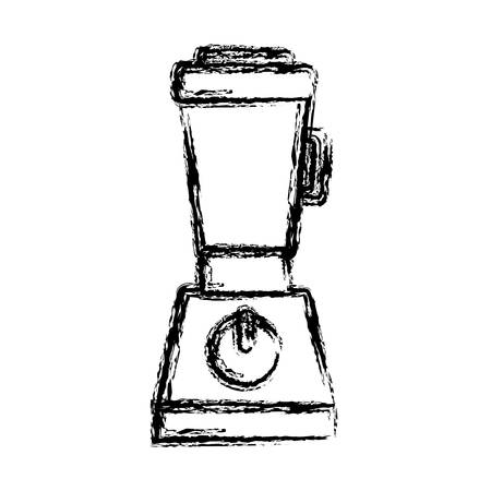 cleaning kitchen: blender icon over white background vector illustration