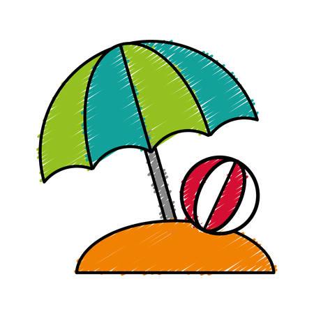 beach parasol icon over white background vector illustration Illustration