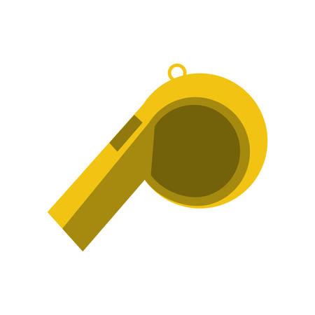 umpire: Sport whistle referee icon vector illustration graphic design