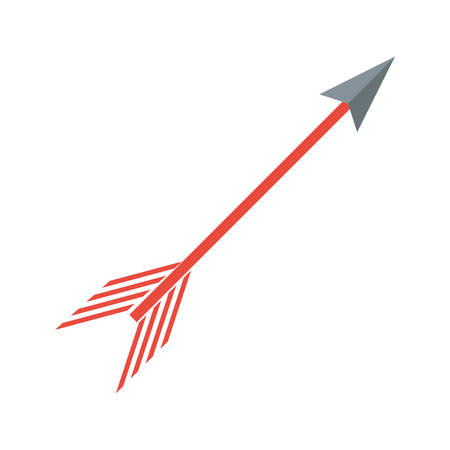 Arch bow arrow icon vector illustration graphic design