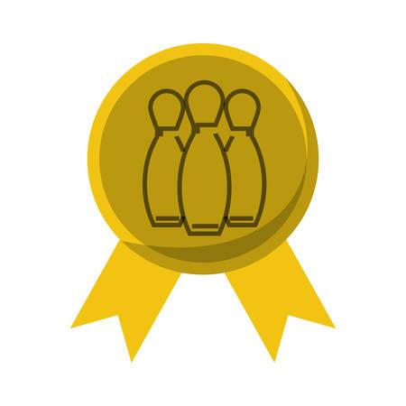 Premio medaglia icona illustrazione vettoriale illustrazione grafica